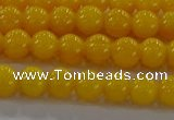 CAR401 15.5 inches 6mm round synthetic amber beads wholesale