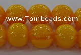 CAR404 15.5 inches 12mm round synthetic amber beads wholesale