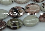 CAR41 15.5 inches 13*18mm oval artistic jasper beads wholesale