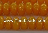 CAR410 15.5 inches 6*9mm rondelle synthetic amber beads wholesale