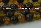 CAR501 15.5 inches 6mm - 7mm round natural amber beads wholesale