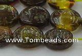 CAR547 15.5 inches 10*12mm - 11*14mm oval natural amber beads