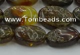 CAR548 15.5 inches 12*15mm - 13*17mm oval natural amber beads