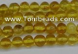 CAR550 15.5 inches 4mm - 5mm round natural amber beads wholesale