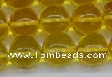 CAR565 15.5 inches 11mm - 12mm round natural amber beads wholesale