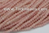 CAS01 15.5 inches 3mm round pink angel skin gemstone beads