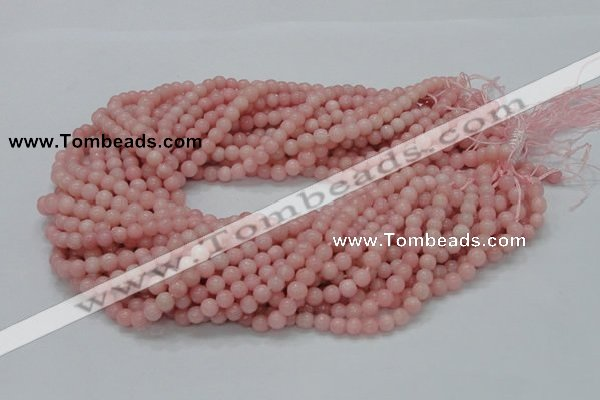 CAS03 15.5 inches 6mm round pink angel skin gemstone beads