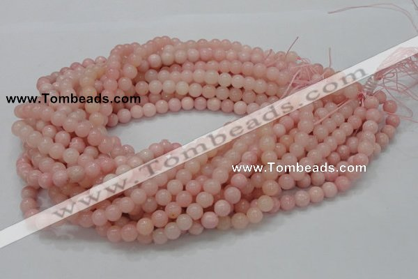 CAS04 15.5 inches 8mm round pink angel skin gemstone beads