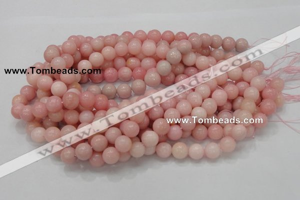 CAS06 15.5 inches 12mm round pink angel skin gemstone beads
