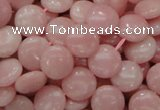 CAS16 15.5 inches 12mm flat round pink angel skin gemstone beads