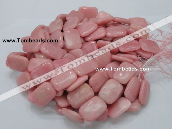CAS30 15.5 inches 20*30mm rectangle pink angel skin gemstone beads