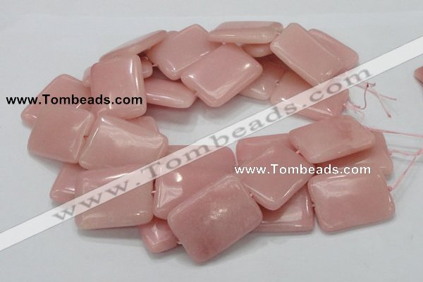 CAS31 15.5 inches 30*40mm rectangle pink angel skin gemstone beads