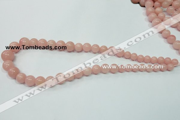 CAS33 15.5 inches 8mm - 16mm round pink angel skin gemstone beads