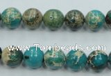 CAT01 15.5 inches 10mm round natural aqua terra jasper beads