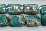 CAT15 15.5 inches 13*18mm rectangle natural aqua terra jasper beads