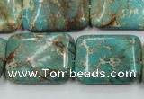 CAT16 15.5 inches 18*25mm rectangle natural aqua terra jasper beads