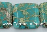 CAT19 15.5 inches 30*30mm square natural aqua terra jasper beads