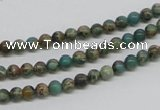 CAT5001 15.5 inches 4mm round natural aqua terra jasper beads