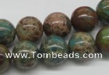CAT5006 15.5 inches 14mm round natural aqua terra jasper beads