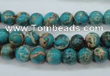 CAT75 15.5 inches 8mm round dyed natural aqua terra jasper beads