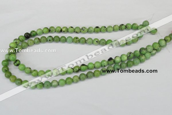 CAU02 round 8mm australia chrysoprase gemstone beads Wholesale