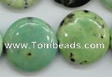 CAU203 15.5 inches 25mm flat round Australia chrysoprase beads
