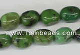 CAU31 15.5 inches 10*14mm nugget australia chrysoprase beads wholesale