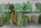 CAU408 15.5 inches 5*10mm - 10*15mm Australia chrysoprase chips beads