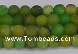 CAU411 15.5 inches 6mm round matte Australia chrysoprase beads