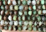 CAU455 15.5 inches 10mm - 11mm round Australia chrysoprase beads