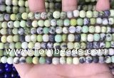 CAU477 15.5 inches 4mm round matte Australia chrysoprase beads