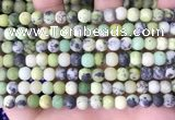 CAU478 15.5 inches 6mm round matte Australia chrysoprase beads