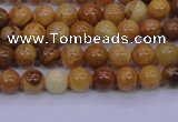 CAY01 15.5 inches 4mm round African yellow jasper beads wholesale