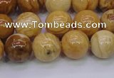 CAY06 15.5 inches 14mm round African yellow jasper beads wholesale