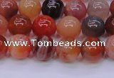 CBC403 15.5 inches 10mm A grade round orange chalcedony beads