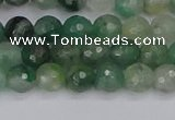 CBC700 15.5 inches 4mm faceted round African green chalcedony beads