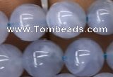 CBC720 15.5 inches 8mm round blue chalcedony gemstone beads