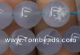 CBC721 15.5 inches 10mm round blue chalcedony gemstone beads