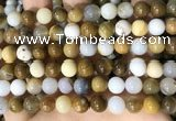 CBC803 15.5 inches 10mm round natural polka dot chalcedony beads