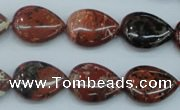 CBD02 15.5 inches 13*18mm flat teardrop brecciated jasper gemstone beads