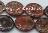 CBD07 15.5 inches 25mm flat round brecciated jasper gemstone beads