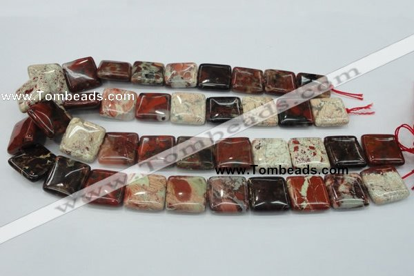 CBD08 15.5 inches 20*20mm square brecciated jasper gemstone beads