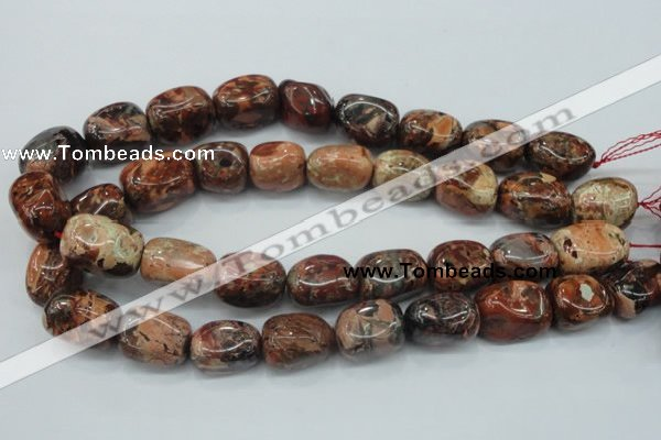 CBD14 15.5 inches 14*22mm nugget brecciated jasper gemstone beads