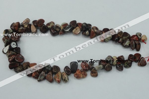 CBD16 15.5 inches 8*12mm chip brecciated jasper gemstone beads