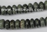 CBD210 15.5 inches 6*12mm rondelle green brecciated jasper beads