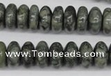CBD211 15.5 inches 7*14mm rondelle green brecciated jasper beads