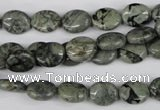 CBD225 15.5 inches 8*10mm oval green brecciated jasper beads