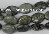 CBD226 15.5 inches 12*16mm oval green brecciated jasper beads