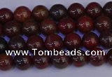 CBD350 15.5 inches 4mm round poppy jasper beads wholesale
