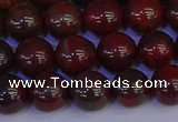 CBD353 15.5 inches 10mm round poppy jasper beads wholesale